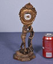 *Early 1800's French Antique Louis XV Pocket Watch Holder w/Man in Bass Wood