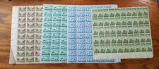 4 US 50 Stamp Sheets 1945 Army, Navy, Iwo Jima, U.S.Coast Guard #929,934,935,936