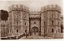 Berkshire - Windsor Castle, Henry VIII Gateway -Real Photo Postcard Franked 1935