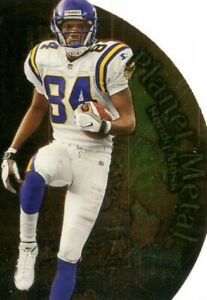 1999 Metal Universe Planet Metal Vikings Football Card #PM15 Randy Moss