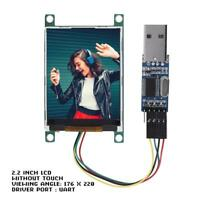 2.2 inch UART TFT LCD Display Module W/ PL2303 Serial For Arduino/Raspberry Pi