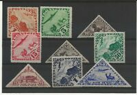 Tanna Touva 1934 Air basic set of 9 sg.51-9  mint hinged