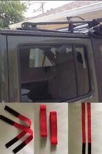 Jeep/Wrangler/Sunrider RED Soft top tie/down straps accessories/trim 07-2017