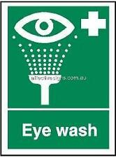 Eye Wash Sign Safety Signs Australian Made Quality Printed Sign