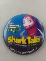 SHARK TALE Movie Promo DVD pinback pin button Rare *EE3