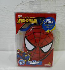 Spider-Man Villain Hunt Mini Games Cards Plastic Case Backpack Clip-on Marvel