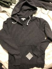 Falls Creek Mens 2XL Gray 1/4 Button Pull Over Light Weight Hoodie