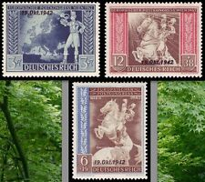 EBS Germany 1942 Ratification of Axis Postal Congress Michel 823-825 MNH**