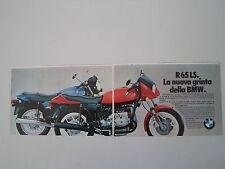 advertising Pubblicità 1982 MOTO BMW R65 R 65 LS
