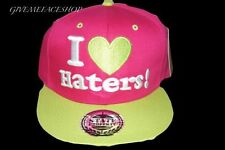EXCLUSIVE I LOVE HATERS SNAPBACK CAPS, FLAT PEAK PINK BASEBALL FITTED HATS,