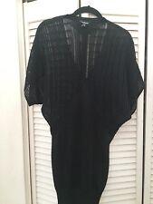 bebe black lurex knit dress xs