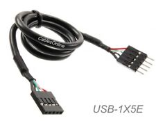 18inch Internal 5-Pin USB IDC Motherboard Header Male to Female Extension Cable