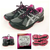 Asics GLS Womens Sz 8.5 Grey Pink White Shoes Running Athletic T28BQ Excellent