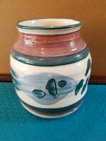 "Sherry Palombo Studio Pottery Monut Pleasant, SC. 7"" Vase Signed"