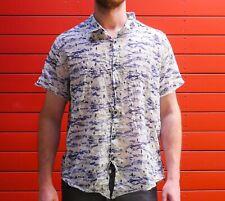Ksubi Short Sleeve Cotton Button Up Shirt - XL / M - Amazing Print and Quality