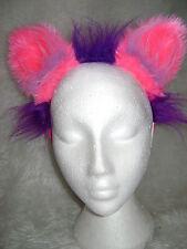 Le Cheshire Cat Fancy Dress oreilles Rose vif et violet Chat Oreilles Costume Oreilles