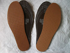 2 PAIRS  PADDED SYNTHETIC LEATHER INSOLES,UNISEX ONE SIZE FIT ALL