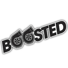 BOOSTED  decal / sticker 180x50mm  VW EURO RAT TURBO