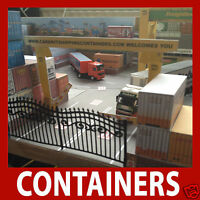 OO 1:76 Model Rail Card Kit Shipping Containers Pre-Weath Mixed Collection x 12