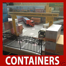 Model Rail Card Kit Shipping Containers Pre-Weath Mixed Collection x 12 OO 1:76