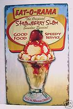 Spiffy Diner Sundae Rustic Retro Old Style Tin Sign