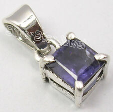 "925 Solid Silver High End IOLITE MODERNISTIC Pendant 0.6"" 1.4 Grams ONLINE BUY"