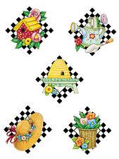 Mary Engelbreit Garden Hats Birdhouses Watercan Baskets 25 Wallies Decal Sticker