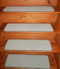 """13 STEP 9"""" X 30"""" + Landing 27'' x 30'' Stair Treads Staircase Woven Wool CARPET."""