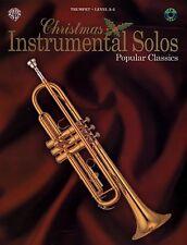 "Christmas Instrumental Solos ""Popular Classics"" Trumpet Music Book/Cd-New-Sale!"