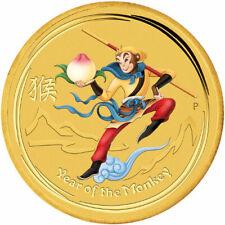 2016 $15 1/10 oz Australian Gold Lunar Monkey King Coin (BU) in Capsule