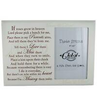 Parents Photo Frame Remembrance Memorial Sentiment Frame Cream 4x6 F1027C