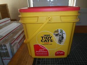 Pre-Owned Purina Tidy Cats Scoop Litter 24/7 Performance Empty Plastic Container