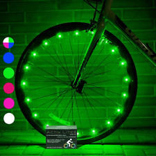 Bicycle Wheel Lights Bike Rim Cool LED Boys Girls Birthday Gift Present Green