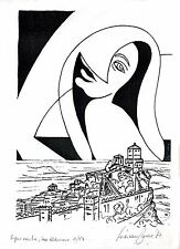 Litografia LUCIANO TORRE San Marino NUMERATA 11/50 autografo Lithography