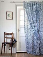IKEA Mjolkort Curtains, blue/white floral, 145 x 300 cm - 903.129.07