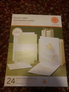 Floral Cake Invitation Suite