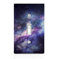 Blue Galaxy, space Light Switch Cover, Bedroom Decor, Home Decor, Renters Decor