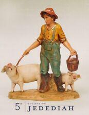 "Roman Inc Fontanini 5"" Nativity Set Jedediah Figurine Boy w Pigs New in Box"