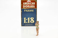 Kalender-Girl August im Bikini 1:18 American Diorama