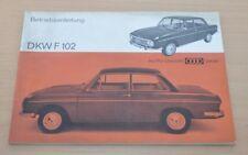 DKW F 102 Auto Union DKW 1965 Motor Fernlicht Vergaser Zündung Türen Technische