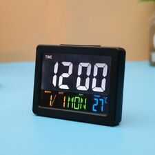 Large Led Digital Alarm Clock Wall Desk Decor with Calendar Temperature Display