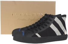 """NEW BURBERRY MEN'S """"KIRK"""" HIGH TOP CANVAS LEATHER CHECK SNEAKERS SHOES 43/10"""