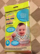 Disposable Baby Bibs - Package of 6 Built In Crumb Catcher Pocket Angel Of Mine