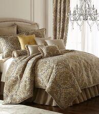4-Pc Rose Tree Liege Floral Jacquard Comforter Set Damask Beige Gold Brown Gray