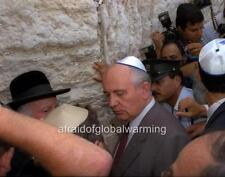 Photo. 1992. Israel. Mikhail Gorbachev at Wailing Wall