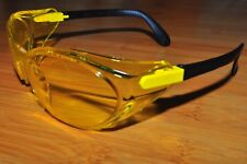 Uvex Eyewear Safety Sun Glasses Bandido S1722 Hot Yell  Black Frame Amber lens