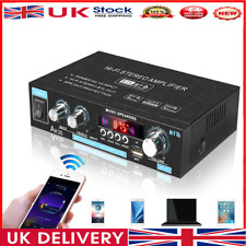 More details for ak35 bluetooth hifi stereo audio amplifier with usb tf rca aux + remote control