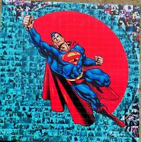 MARIA MURGIA  - SUPERMAN -  2021 Pezzo unico dipinto  cm 50x50 + ARCHIVIO