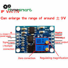 DC 3-11V AD620 Microvolt UV/ MV Voltage Amplifier Signal Instrumentation AHS
