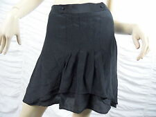 WITCHERY black 100% silk A-line skirt size 10 BNWT